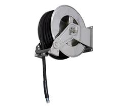 AV3502 Stainless steel spring retracting hose reel black hose
