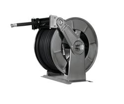 AV3503FE Powder coated spring retracting hose reel black hose