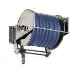 AV5000 Stainless Steel Spring Retracting Hose Reel 150x150 ST50   Swivel Wall Bracket