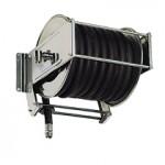 AV5000 Stainless steel spring retracting hose reel black hose 150x150 ST50   Swivel Wall Bracket