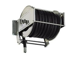 AV5000 Stainless steel spring retracting hose reel black hose