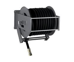 AV5000FE Powder coated spring retracting hose reel black hose