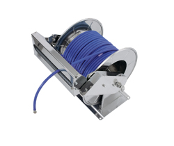 AV6000 Spring Retracting Stainless Steel Hose Reel with Guide