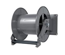 AV6000FE Powder coated spring retracting hose reel black hose