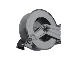 AV815FE Spring retracting powder coated steel hose reel
