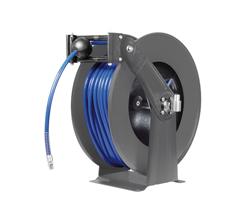 AV830FE Powder coat steel spring retracting hose reel