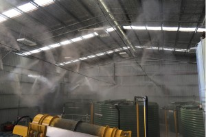 Odour control misting system