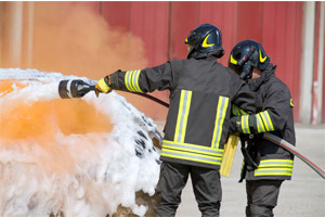 Foam fire suppression
