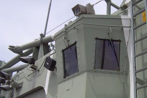 Navy destroyer window washing nozzles