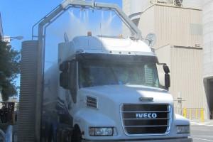 Truck wash bay