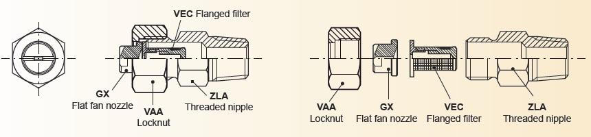 Flanged nozzles Flat Fan Nozzle Technology