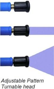 Adjustable spray 182x300 White Heavy Duty Nozzle