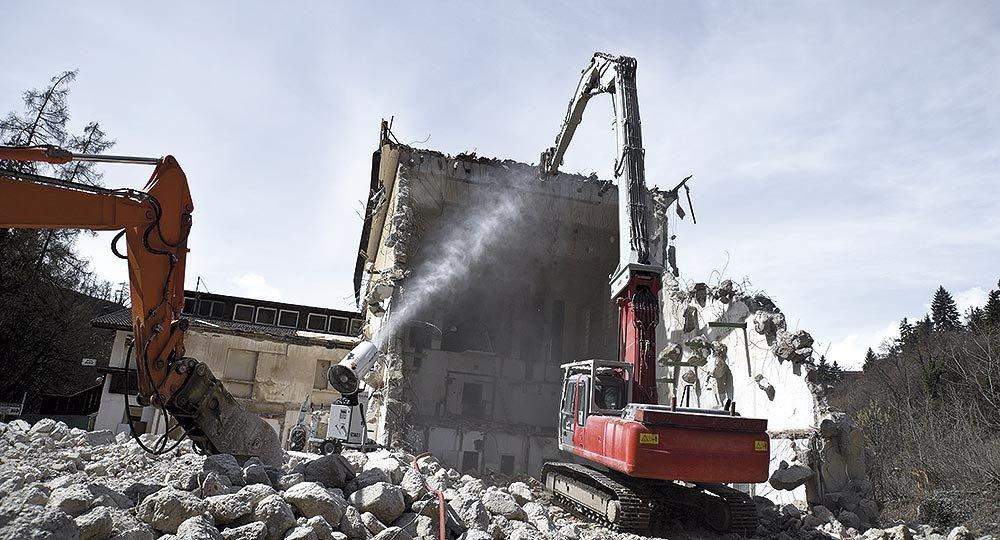 V12 demolition dust suppression V12 Dust Cannon